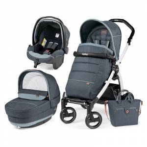 Peg Perego kolica 3u1 Book S Elite White-Black