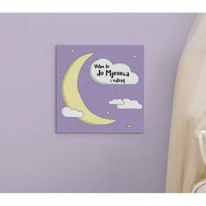 MagisWall slike na platnu Do Mjeseca ljubicasti