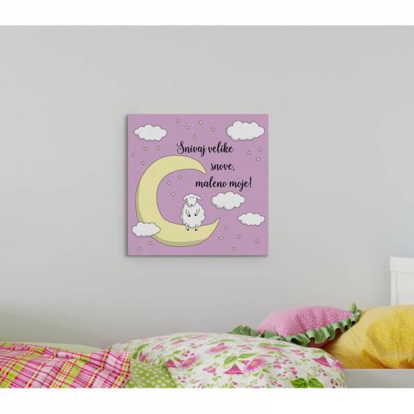 MagisWall slike na platnu Snivaj velike snove ljubicasta