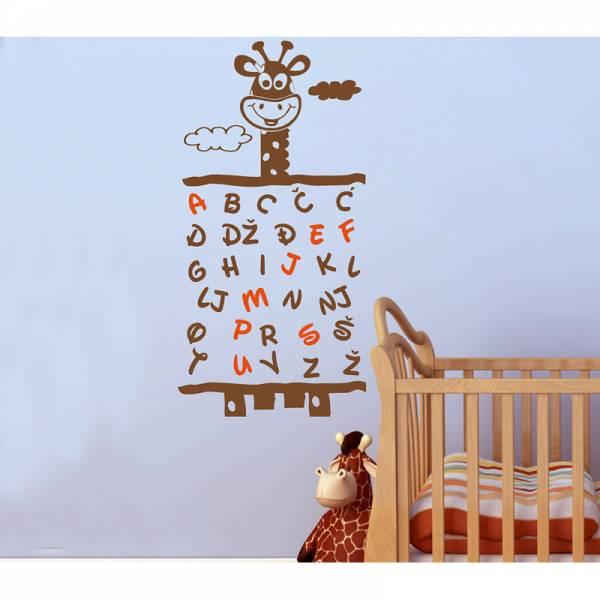 MagisWall zidna naljepnica Zabavna abeceda
