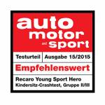 Recaro autosjedalica Young Sport Hero_AMS