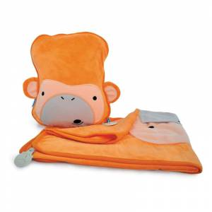 Trunki jastuk i dekica SnooziHedz Monkey Mylo Orange