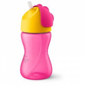 Philips Avent bocica sa slamkom 300 ml roza