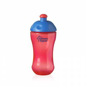 Tommee Tippee Free Flow casa sa sportskim usnikom Sport Bottle crvena