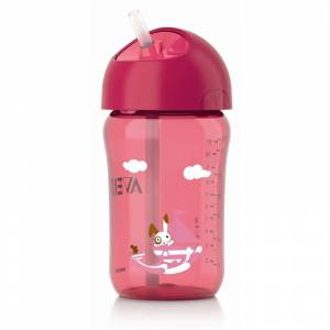 Philips Avent bocica sa slamkom 340 ml roza