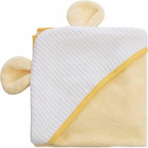 Bubaba ručcnik s kapuljacom s usima 100x100 cm zuti