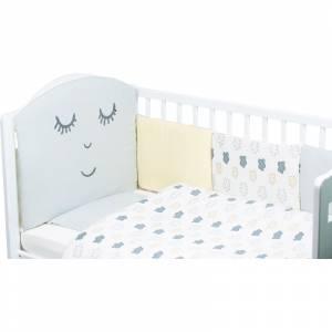 Bubaba set posteljine za krevetic 10 dijelova Oblaci