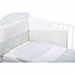 Bubaba set posteljine za krevetic 6 dijelova Medini snovi minky bijela