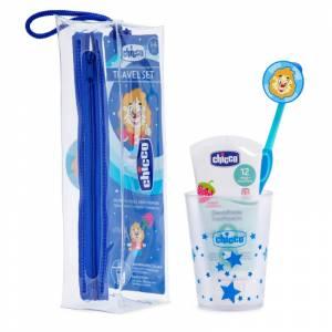 Chicco set za oralnu higijenu u torbici plavi