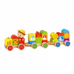 Tooky Toy Vlak s kockama
