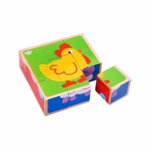 Tooky Toy slagalica kocke zivotinje 9 kom