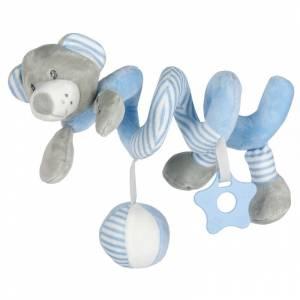 Baby Mix spiralna igracka za kolica plavi medo