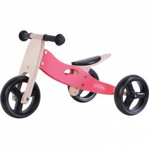 Free2Move tricikl drveni skolski 2u1 crveni