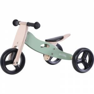 Free2Move tricikl drveni skolski 2u1 zeleni